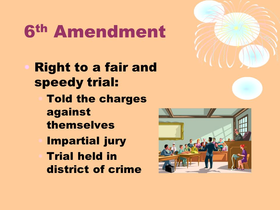 6th amendment Do you face a criminal charge but lack money to hire a lawyer if so, you should  understand your sixth amendment right to legal counsel.