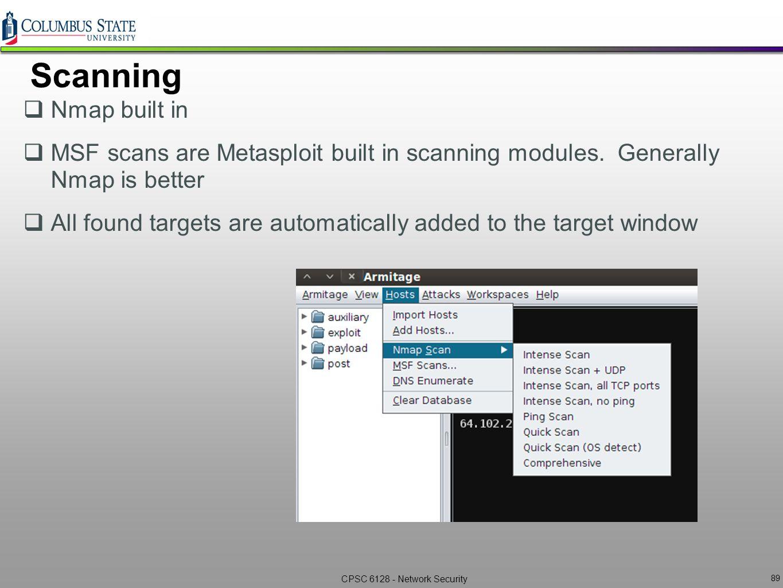 Windows command prompt nmap - Scanning Nmap Built In Msf Scans Are Metasploit Built In Scanning Modules Generally Nmap