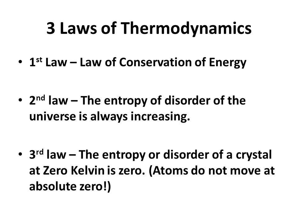 3 Laws of Thermodynamics