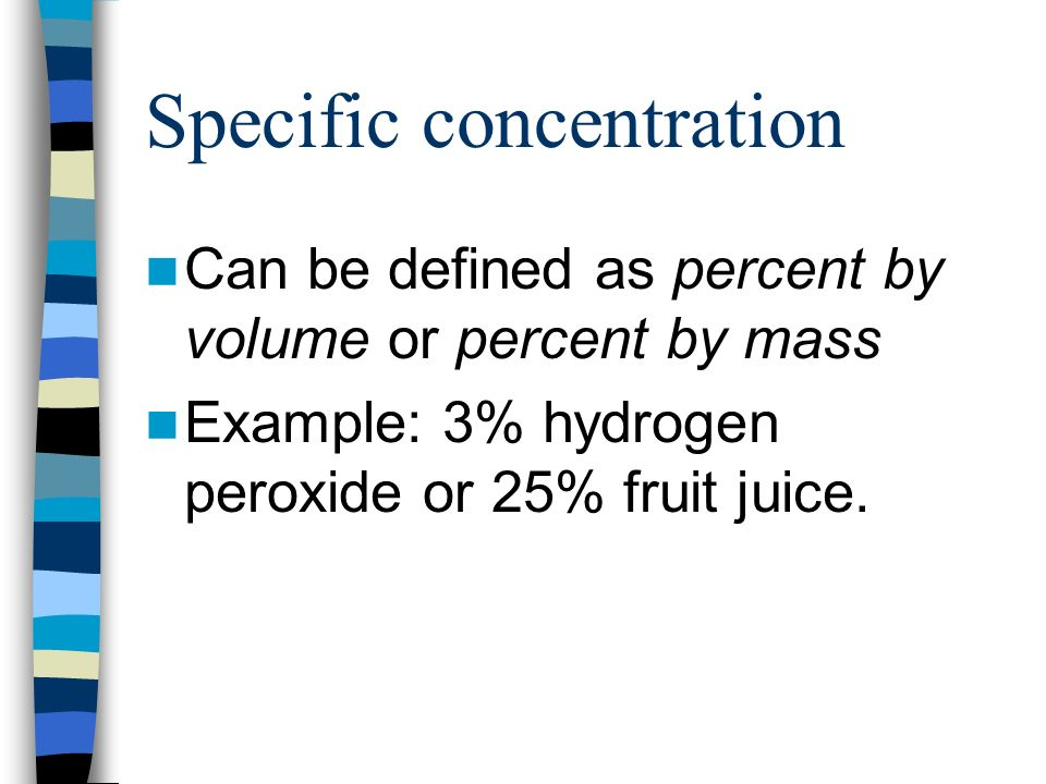 Specific concentration