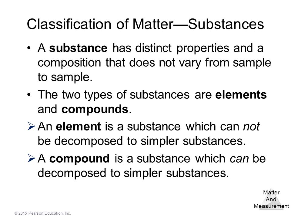 Classification of Matter—Substances