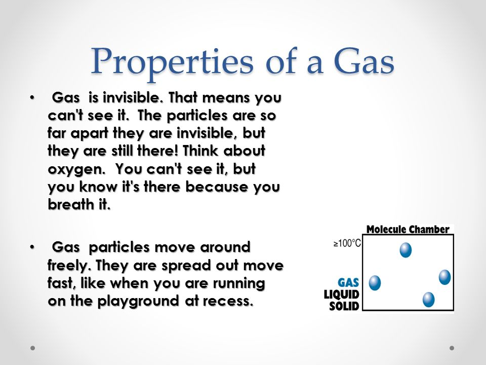 Properties of a Gas