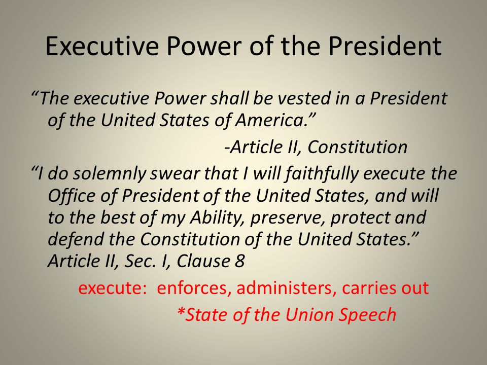 a research on the structure of the executive branch in the united states of america The president of the united states is in charge of the executive branch of the united states federal governmentthe executive branch is empowered by the us constitution to oversee the implementation and enforcement of all laws passed by the legislative branch in the form of congress.