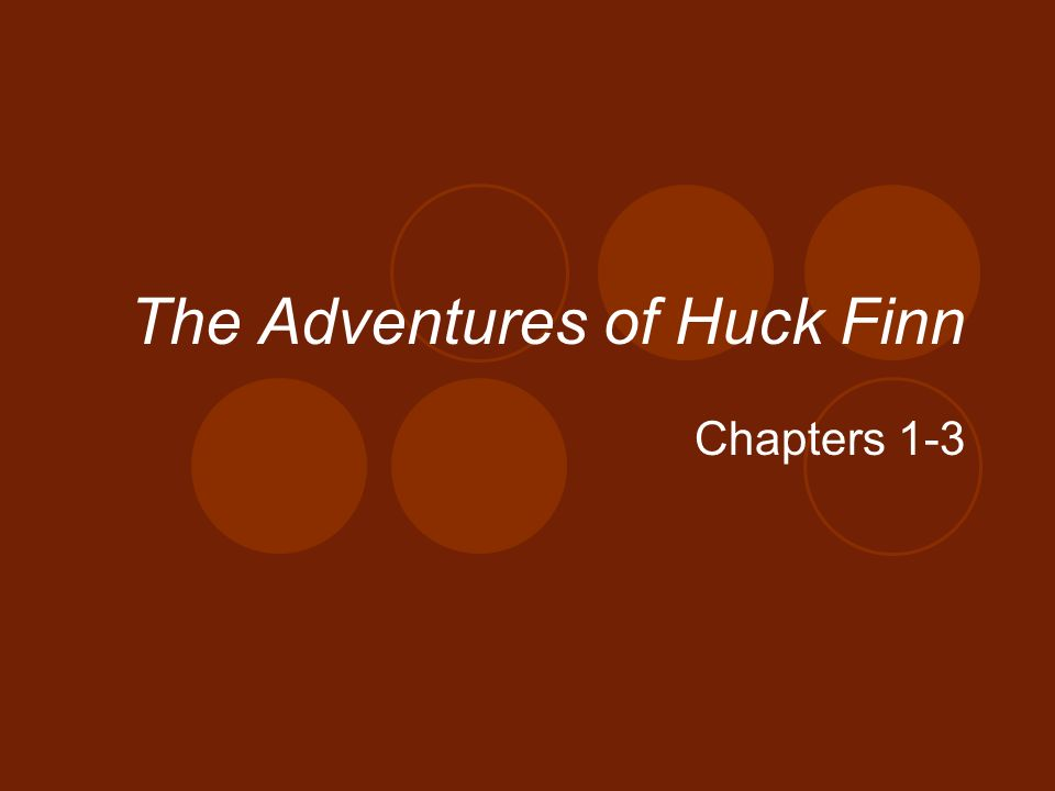 outline on huck finn s usage of