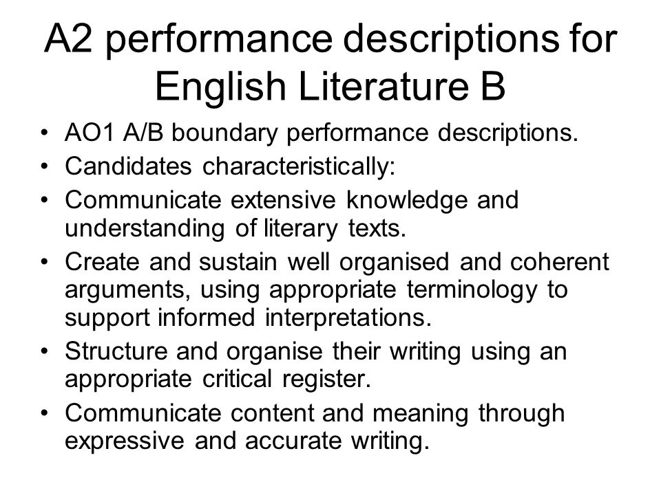 structure of an english literature a level essay I'm having problems with my timed essays for english lit a lot of them are to do with having a bad structure to them and not picking up marks with what i'.