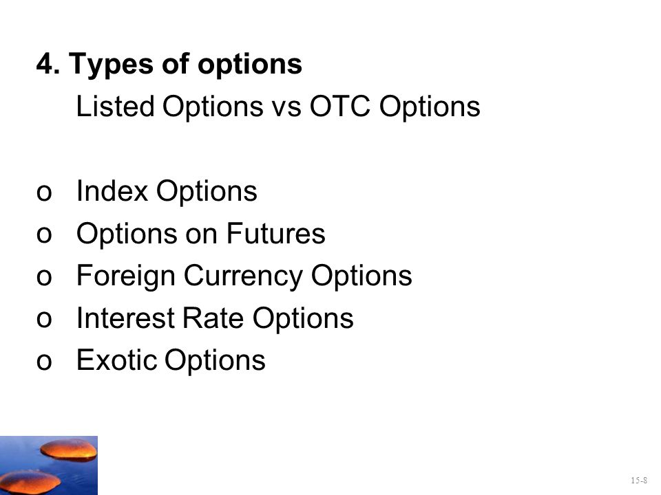 Stock options vs index options