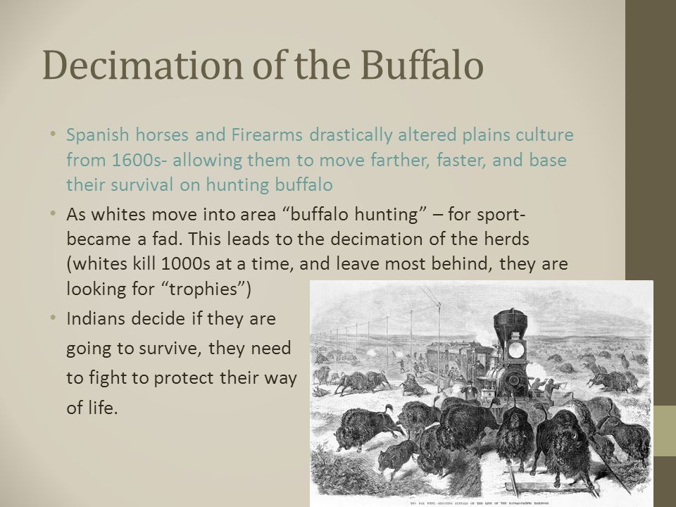 the decimation of the plains indians essay In the case of the north american plains indians, decimation of the bison herds at that time by non-indian  they maintained their traditional foraging way of.