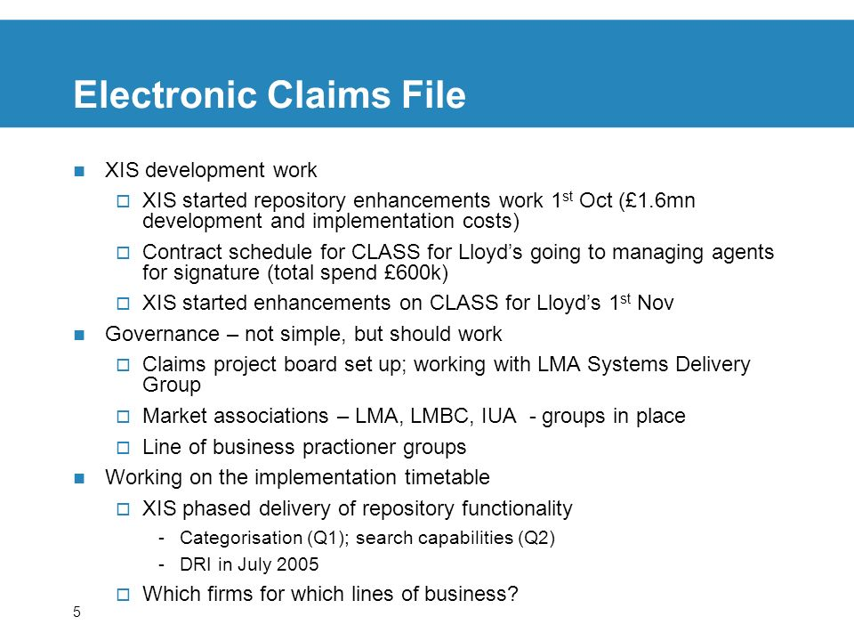 Electronic Claims File