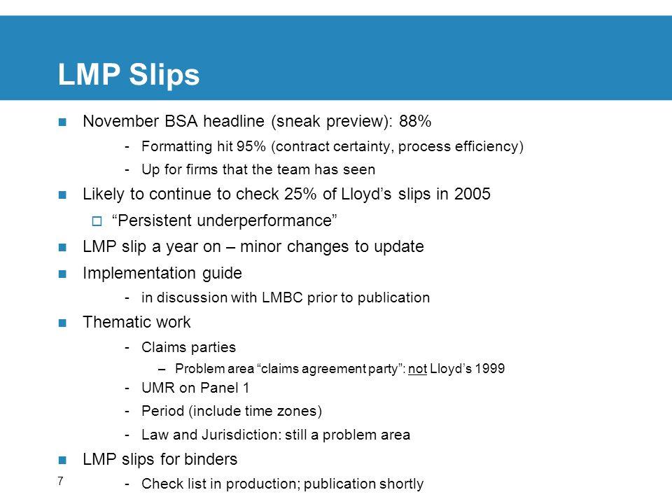 LMP Slips November BSA headline (sneak preview): 88%