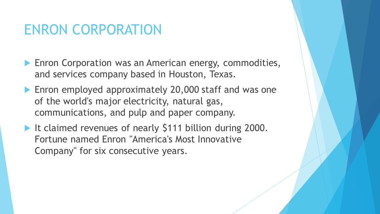 the unethical business practices of enron corporation a former energy commodities and services compa The impact of human resources practices on it personnel  - cirano.