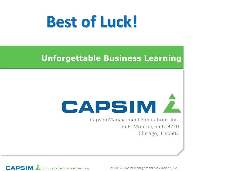 learnings from capsim simulation This subreddit its for people that want to learn about their simulation and improve their scores this is a free open source service, we are no affiliated with capsim by any means.