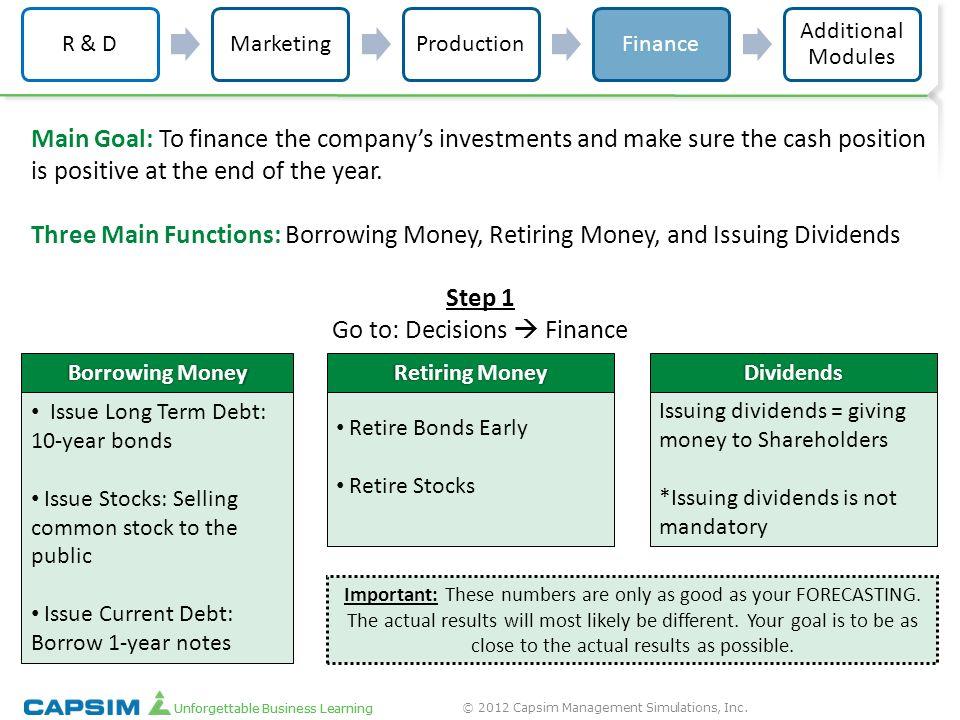 shareholders report for capsim