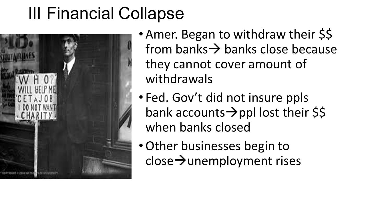 III Financial Collapse
