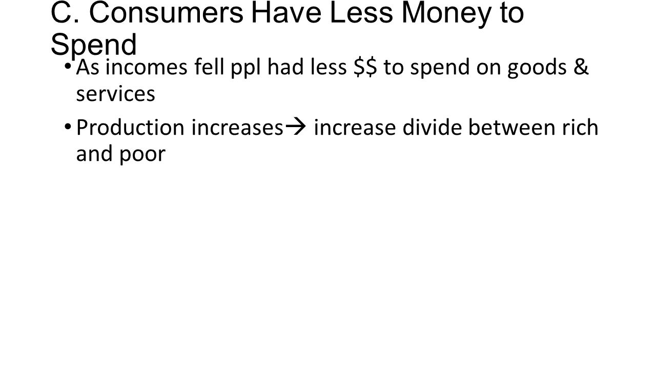 C. Consumers Have Less Money to Spend