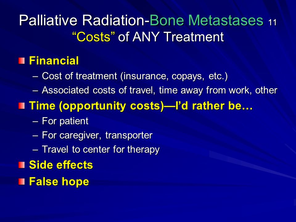 Radiation Oncology In Palliative Care Ppt Video Online