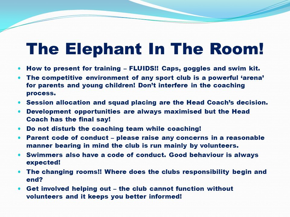 The Elephant In The Room!