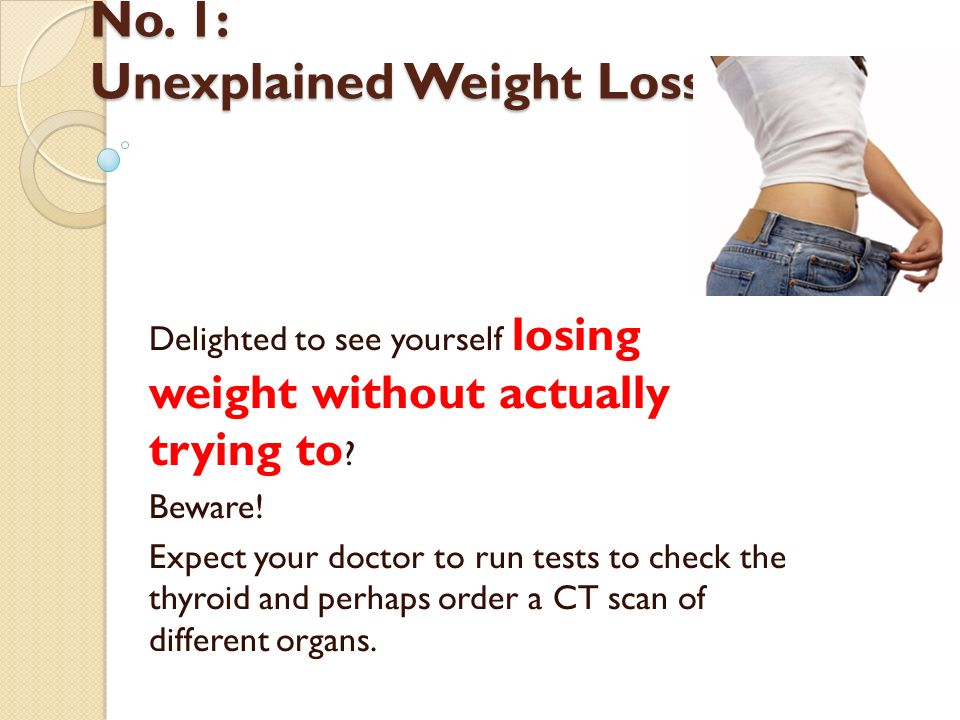 does unexplained weight loss mean cancer