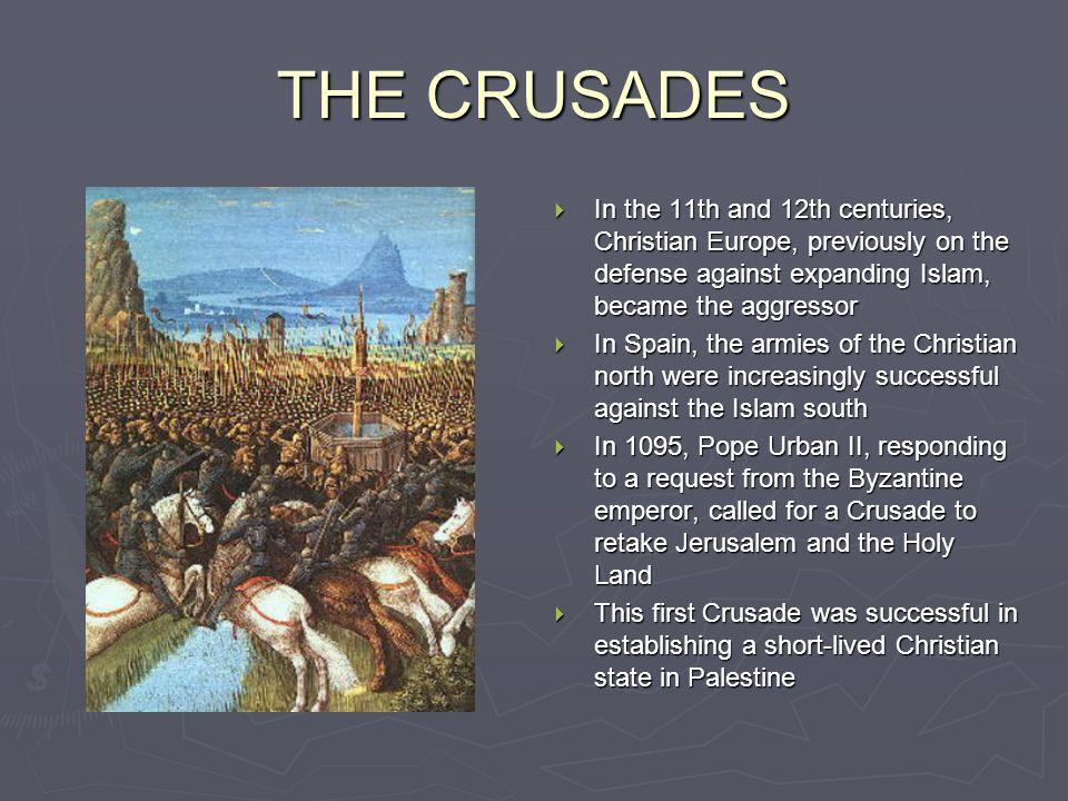 the crusades christian fervour and muslim Far from being unprovoked, then, the crusades actually represent the first great western christian counterattack against muslim attacks which had taken place continually from the inception of islam until the eleventh century, and which continued on thereafter, mostly unabated.