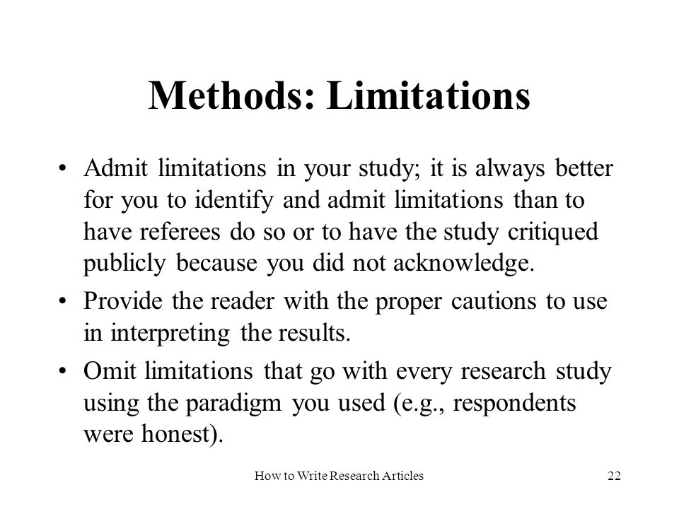 Limitations of a qualitative research study
