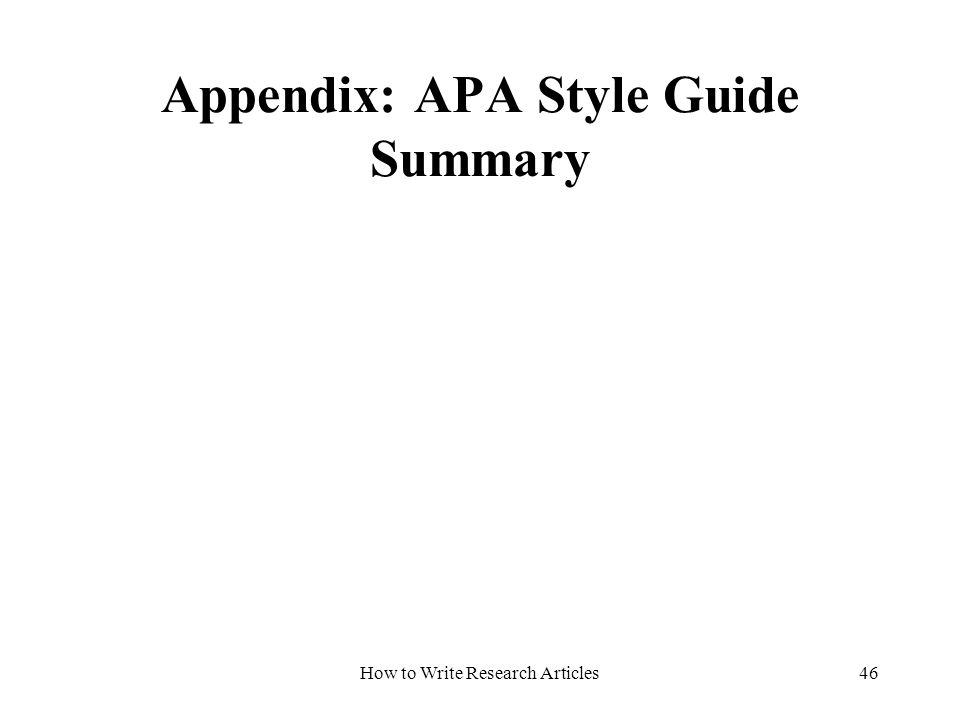 How to Make an Appendix in an APA Paper