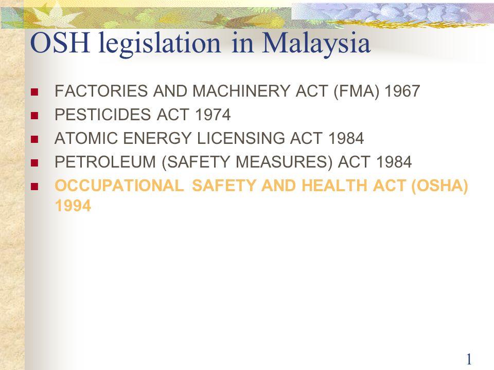 Osh Legislation In Malaysia Ppt Video Online Download