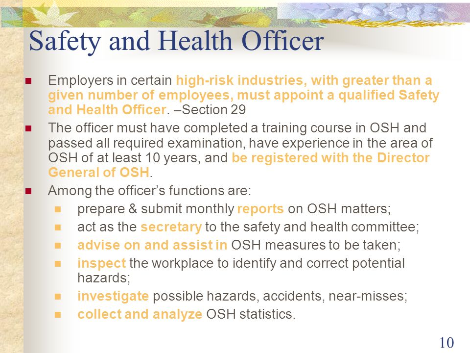 how to become safety officer in malaysia