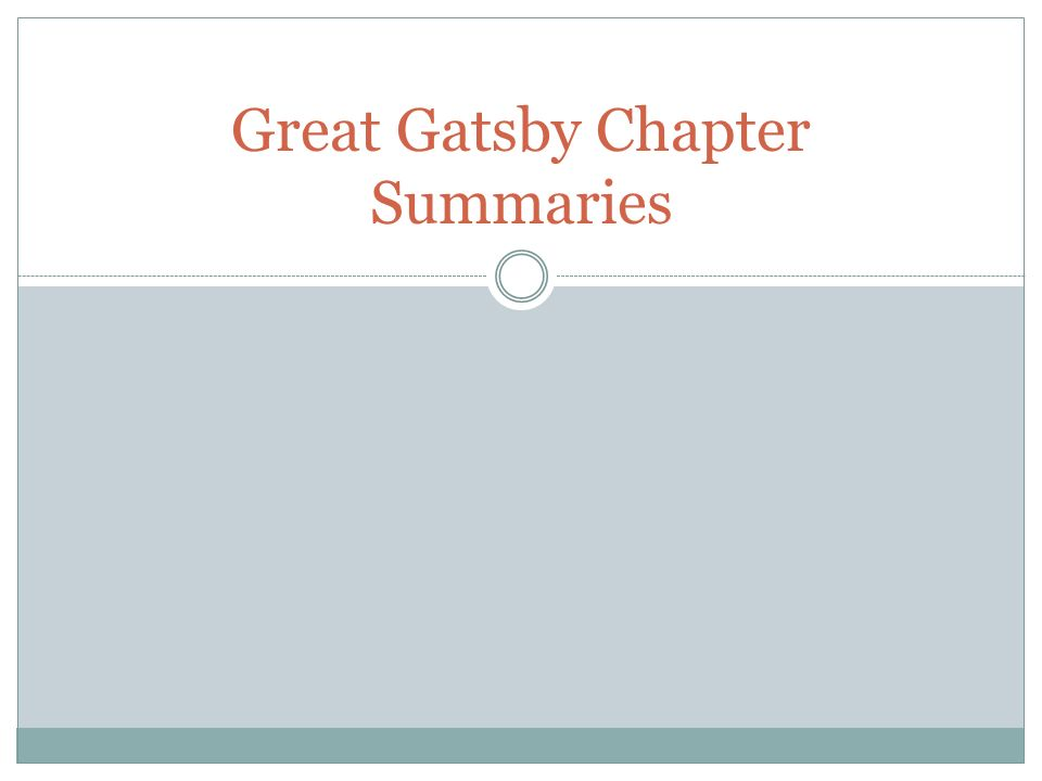 great gatsby chapter summary In this lesson we explore chapter 7 of f scott fitzgerald's 1925 classic of american literature, ''the great gatsby'', and provide a summary and.