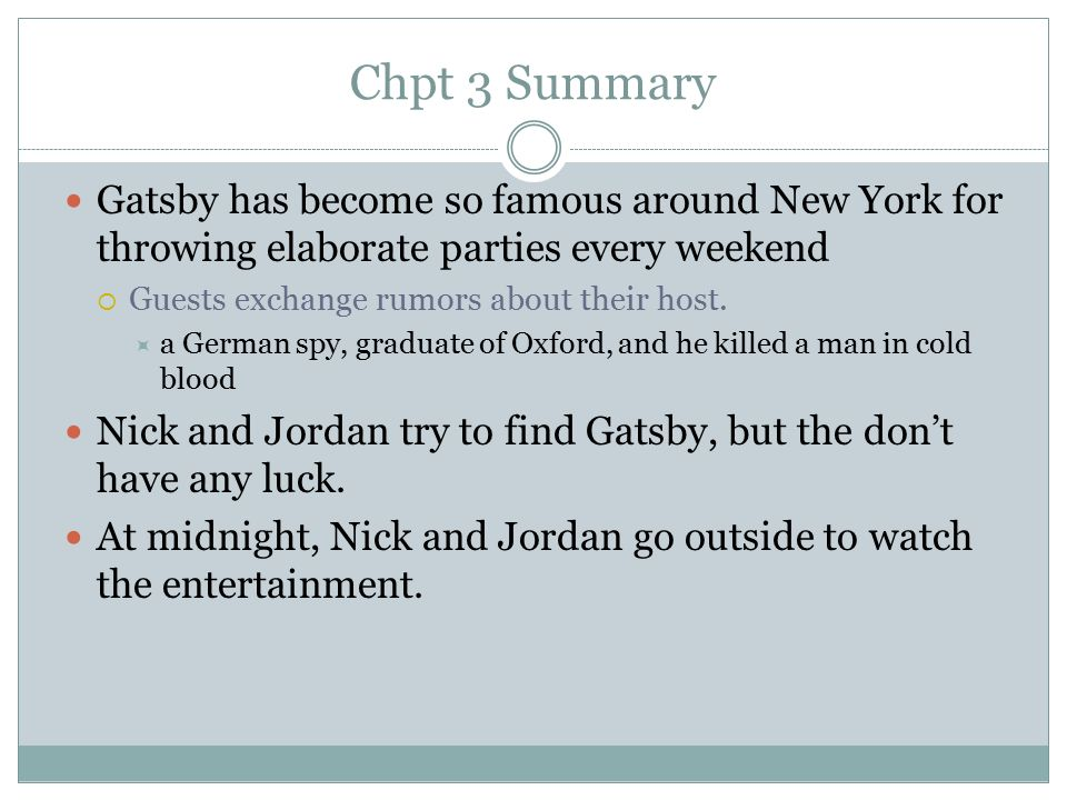 the great gatsby chapter 8 summary Presents, the great gatsby chapter 8 learn all about the most important parts of the second chapter of the f scott fitzgera.