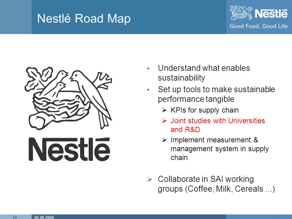 supply chain management of nestle View essay - supply chain management of nestle pakistan from supply cha 452 at virtual university of pakistan supply chain management of nestle ranking fortune 500: nestle is ranked 48th company.