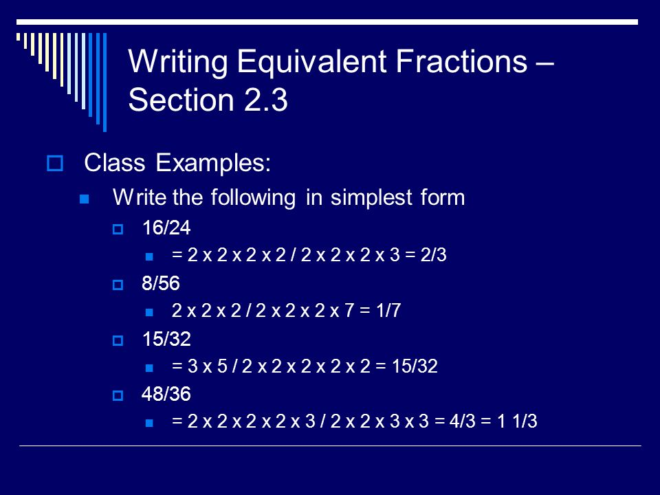 Chapter 2 - Fractions I Math Skills – Week ppt download