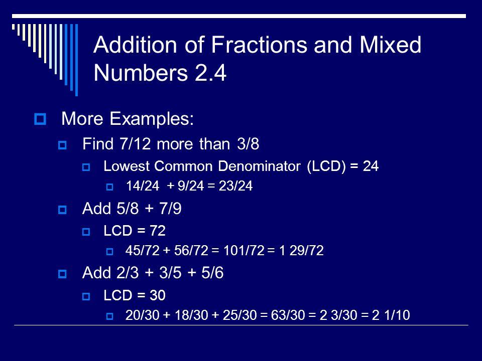 Chapter 2 - Fractions I Math Skills – Week ppt download