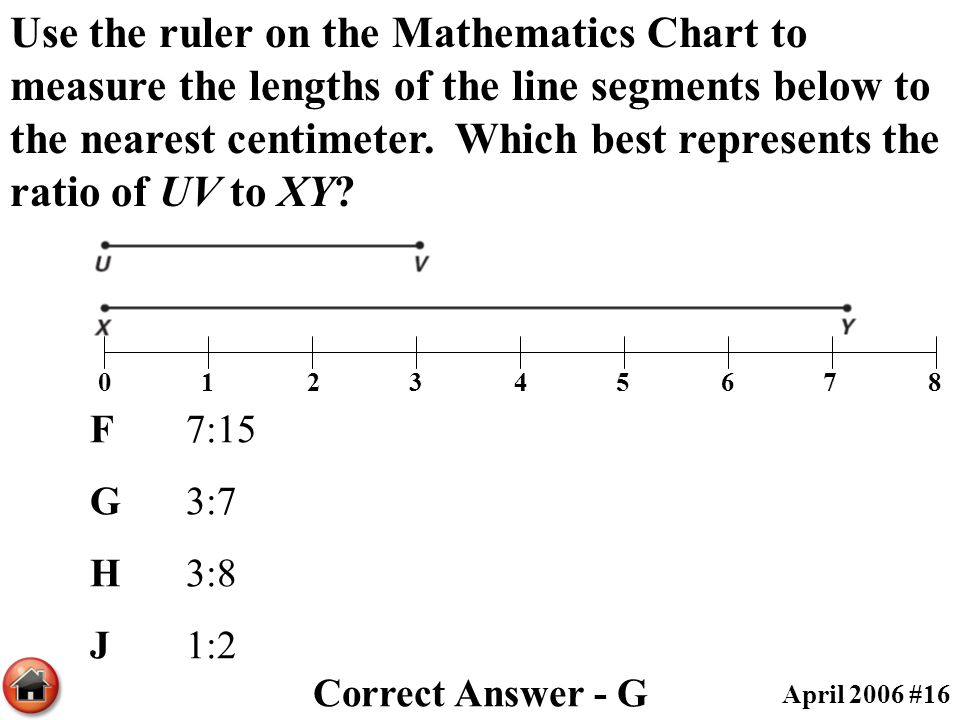 Drawing Lines To The Nearest Cm : Th grade taks released tests by objective ppt download