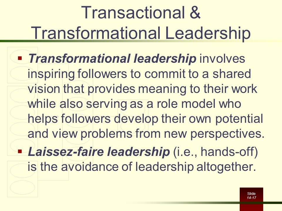 critique of transformational transactional leadership Critical review assignment - transformational and transactional critical review the authors expect transactional and transformational leadership to.