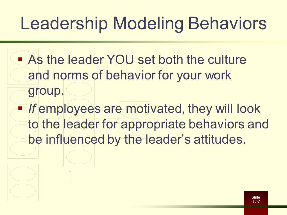 Leadership Modeling Behaviors