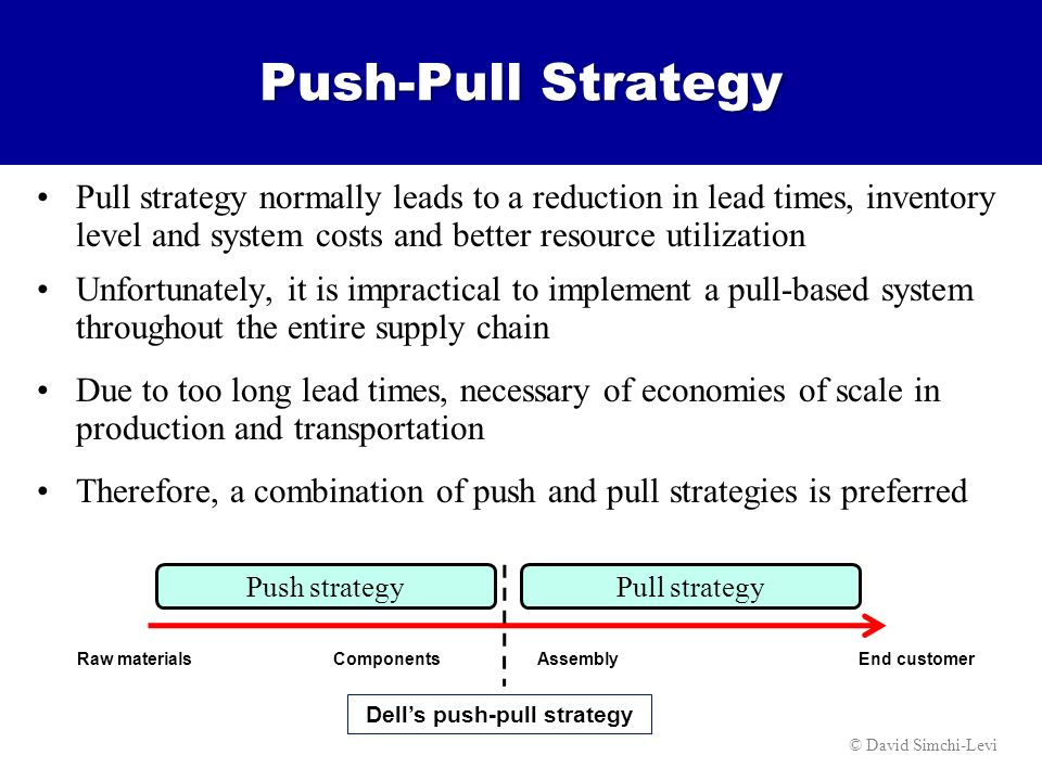 push and pull strategy pdf