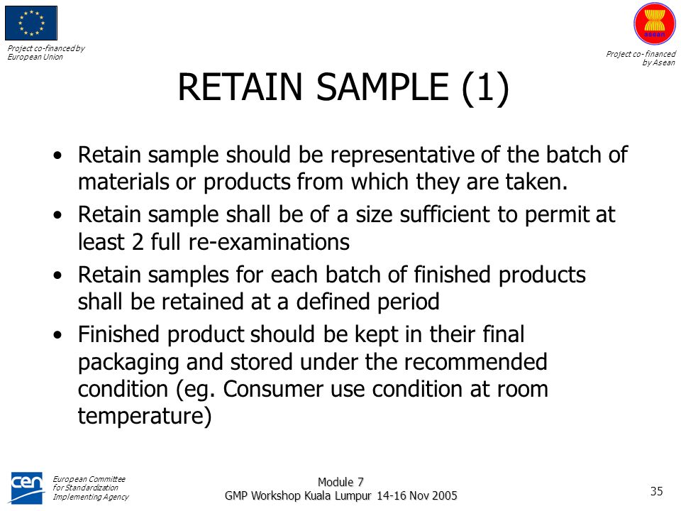 ASEAN GMP TRAINING MODULE QUALITY CONTROL - ppt download