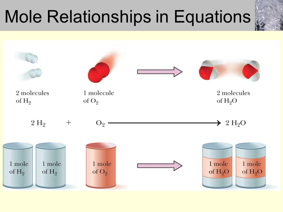 mole relationship in a chemical reaction lab 111