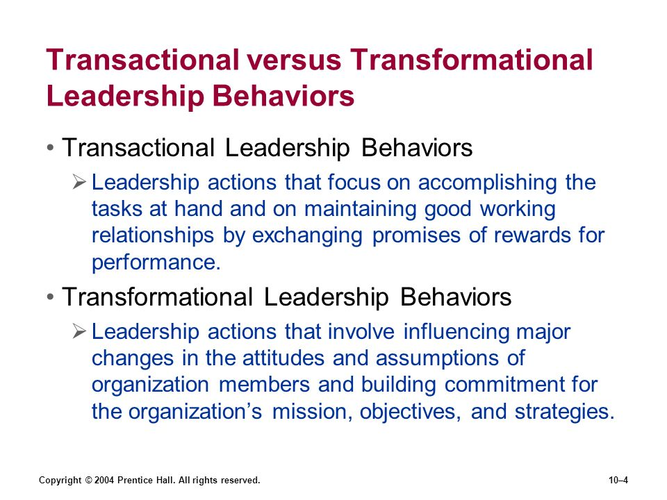 Leadership behavior
