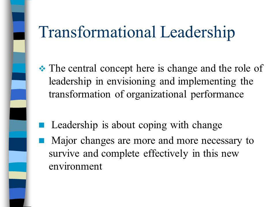 leadership and organizational change concepts Every organization experiences change, regardless of its size, geography or industry in fact, change is an evitable--and desirable--aspect of business life business leaders who can effectively .