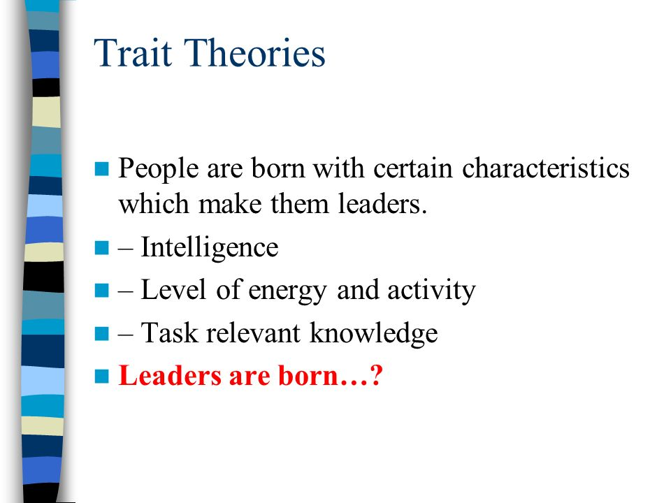ppt on leaders are born not made