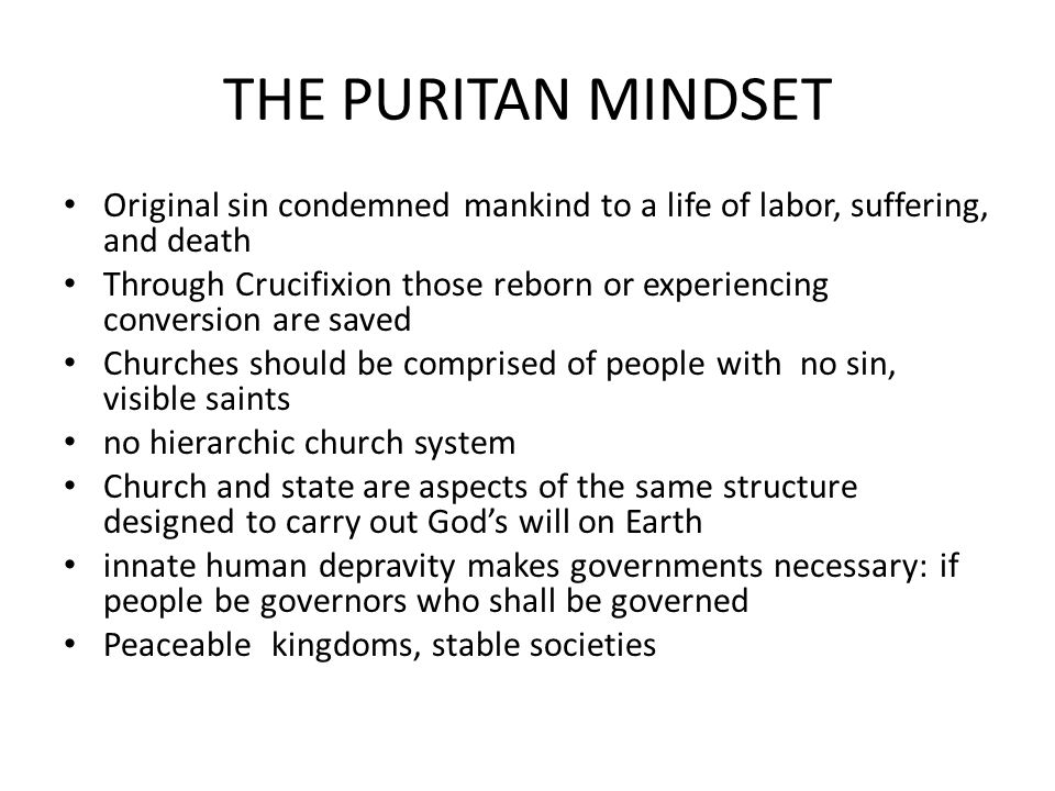 an analysis of the sins of the puritans in new england - the puritans were a religious group from england in the 1630s who settled in the new england area there colony was known as the massachusetts bay colony (foner, 2012) the puritans ran the show and they had a strict religion full of rules that they believed would reform the church of england.