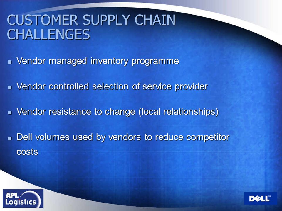 CUSTOMER SUPPLY CHAIN CHALLENGES
