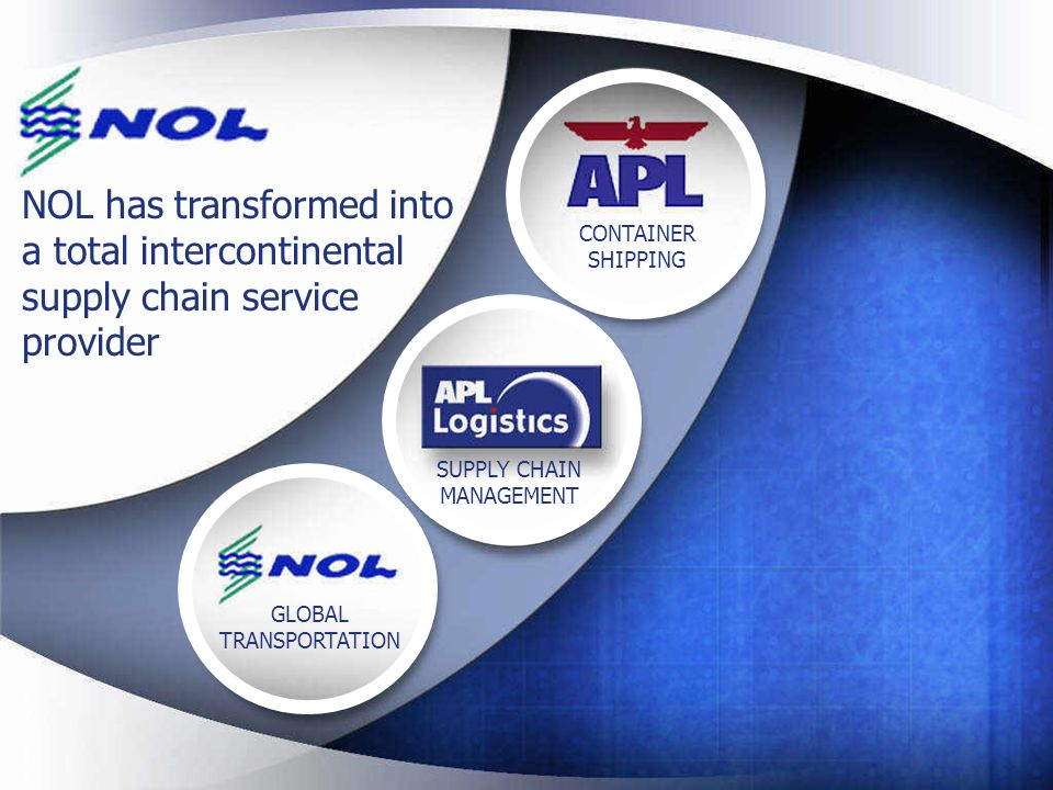 NOL has transformed into a total intercontinental supply chain service provider