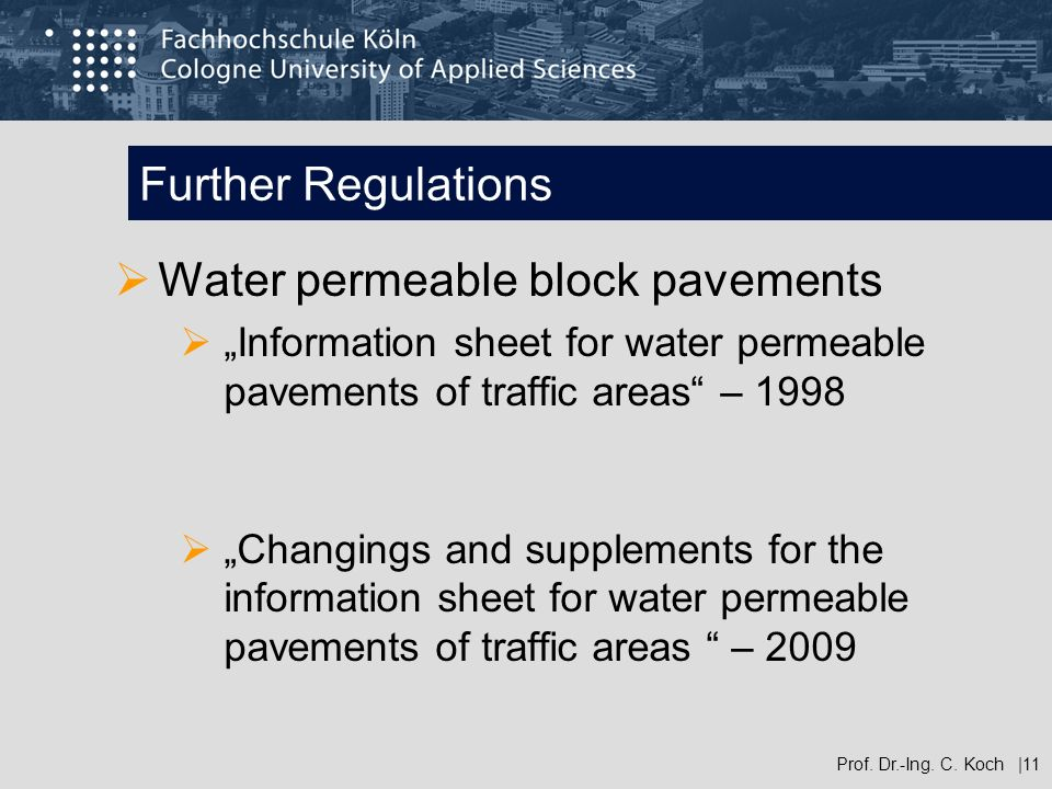 Water permeable block pavements