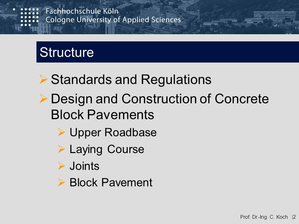 Standards and Regulations