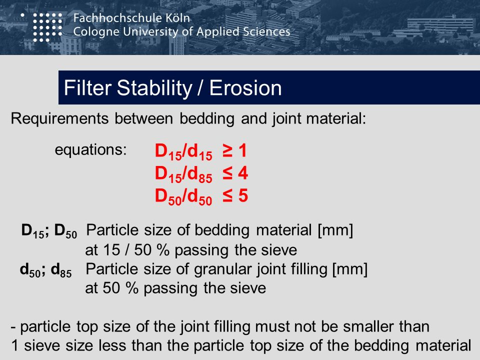 Filter Stability / Erosion