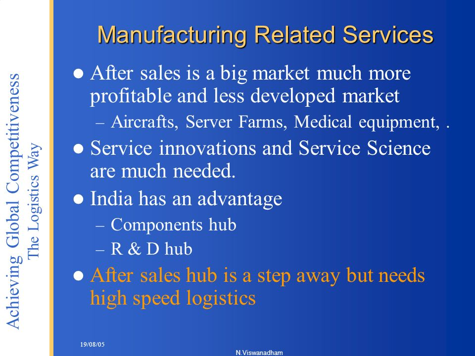 Manufacturing Related Services