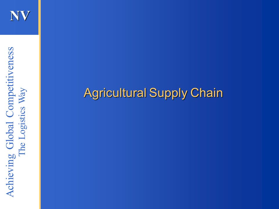 Agricultural Supply Chain