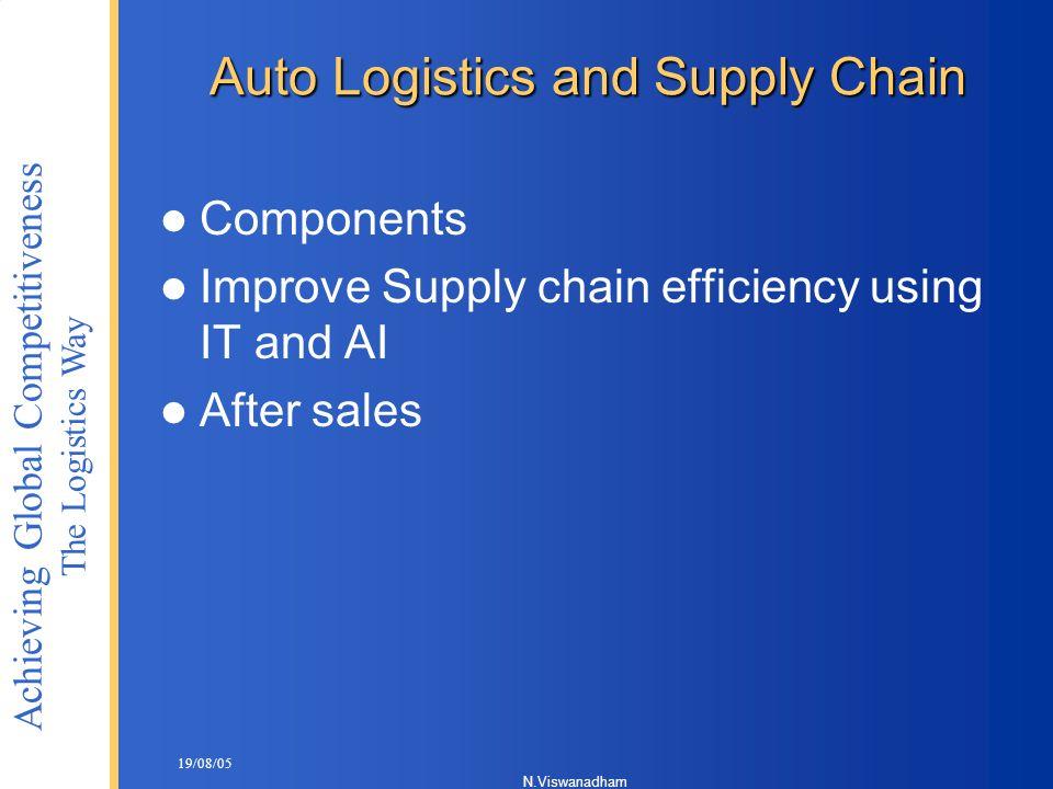 Auto Logistics and Supply Chain