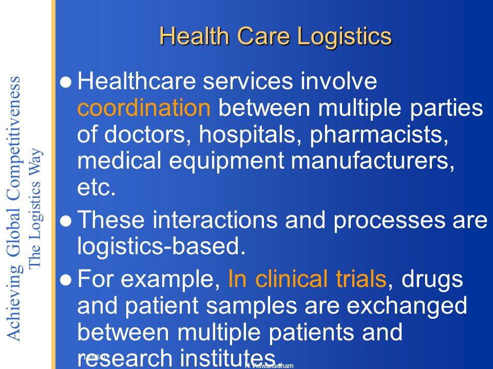 These interactions and processes are logistics-based.